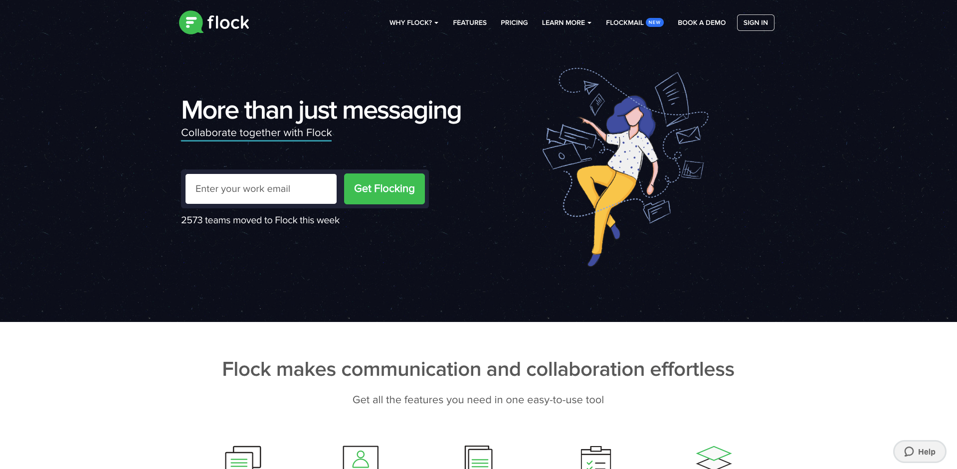 flock messaging app screenshot
