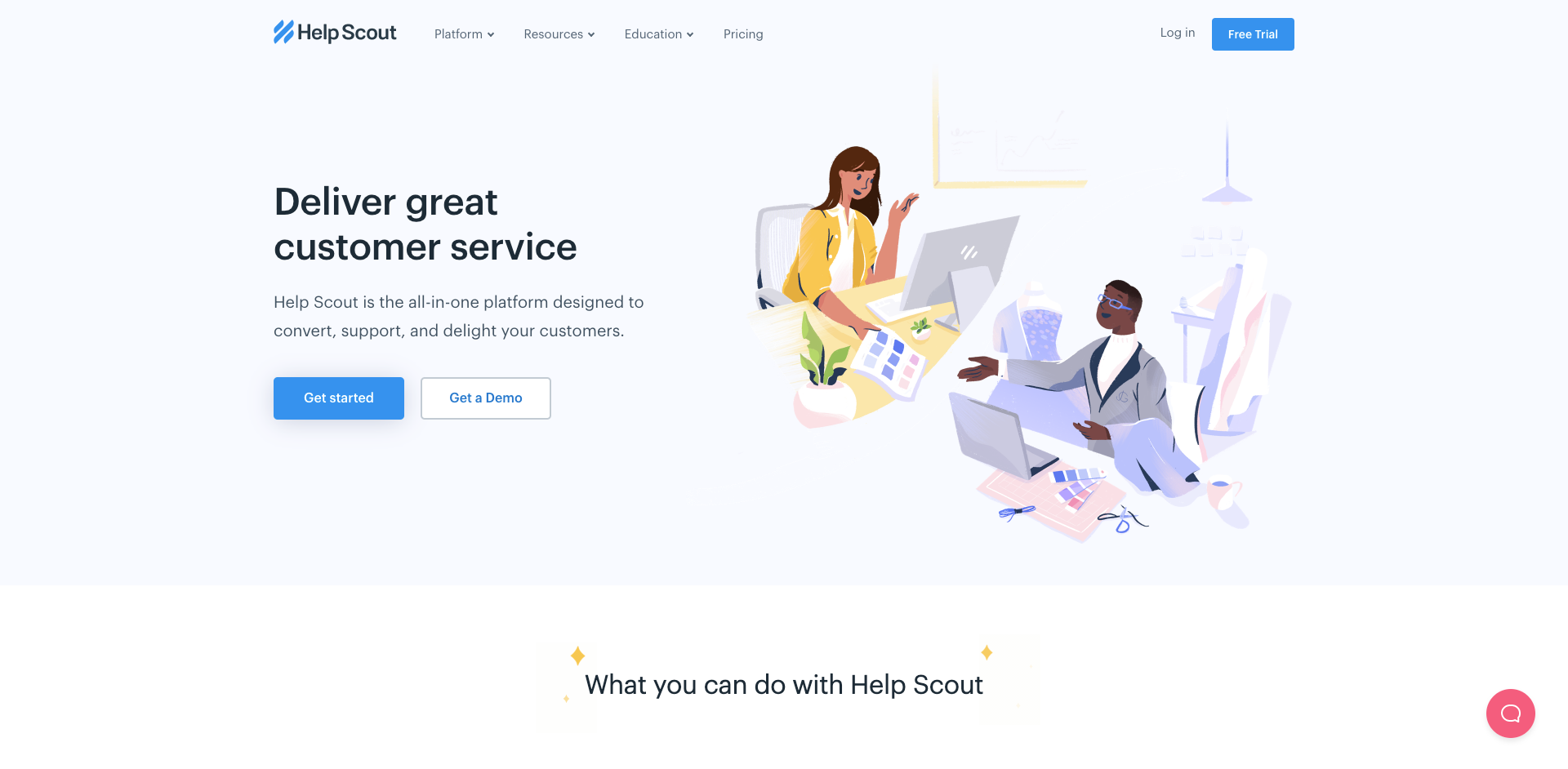 Help Scout website homepage screenshot