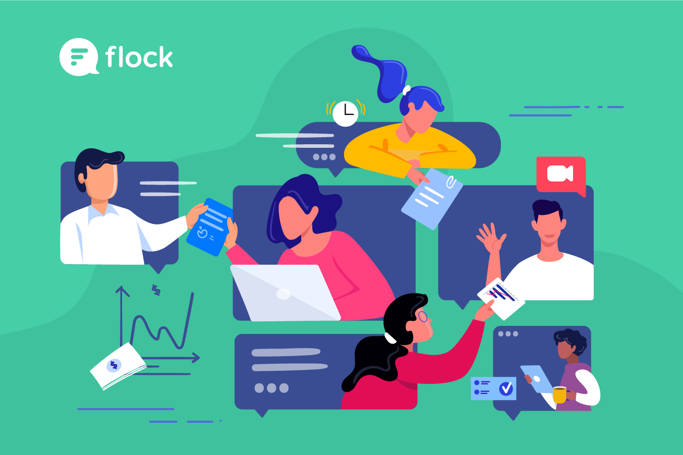 Remote work collaboration in Flock