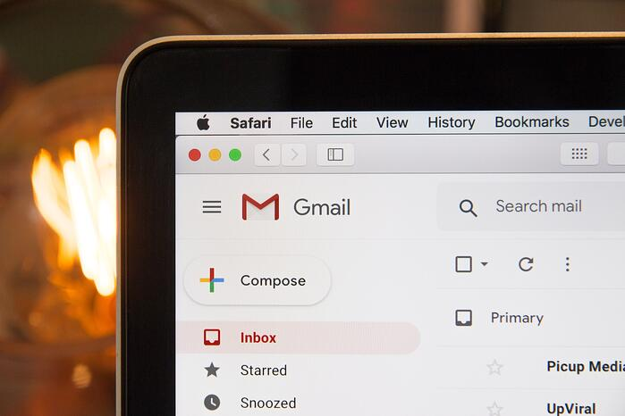 Gmail screenshot unsplash
