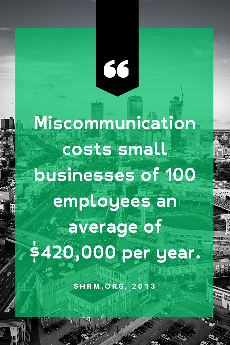 Miscommunication Small Businesses Quote