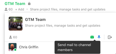 Email the entire team without entering individual email addresses
