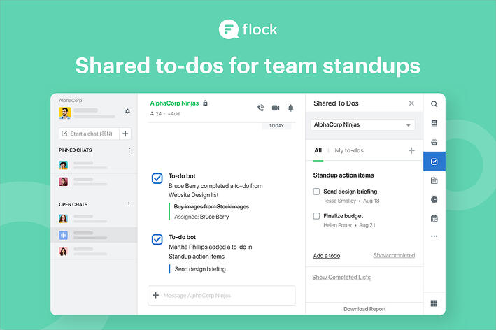 Step up your team standups with shared to-dos