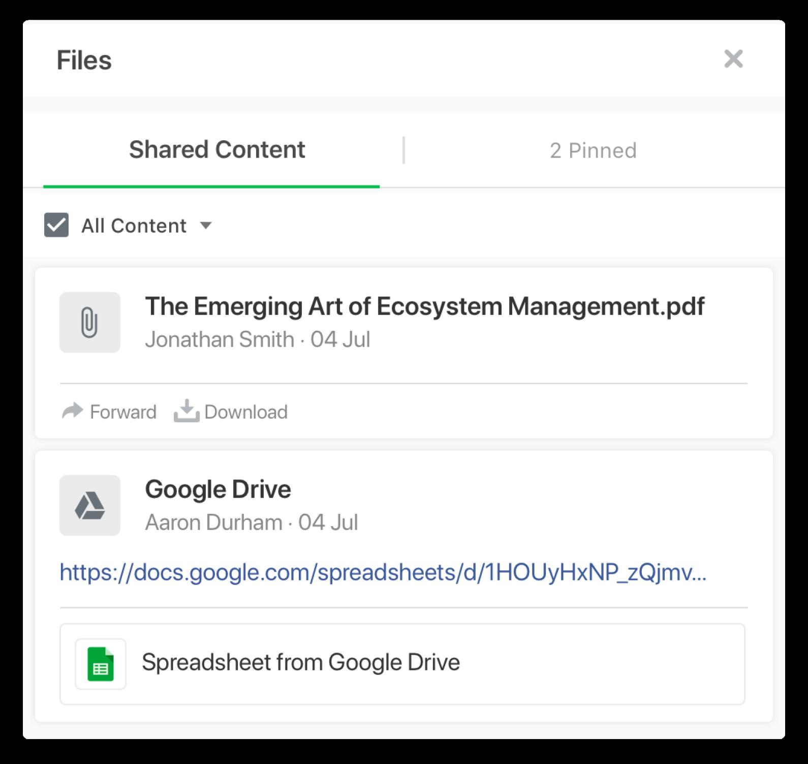 Flock file storage