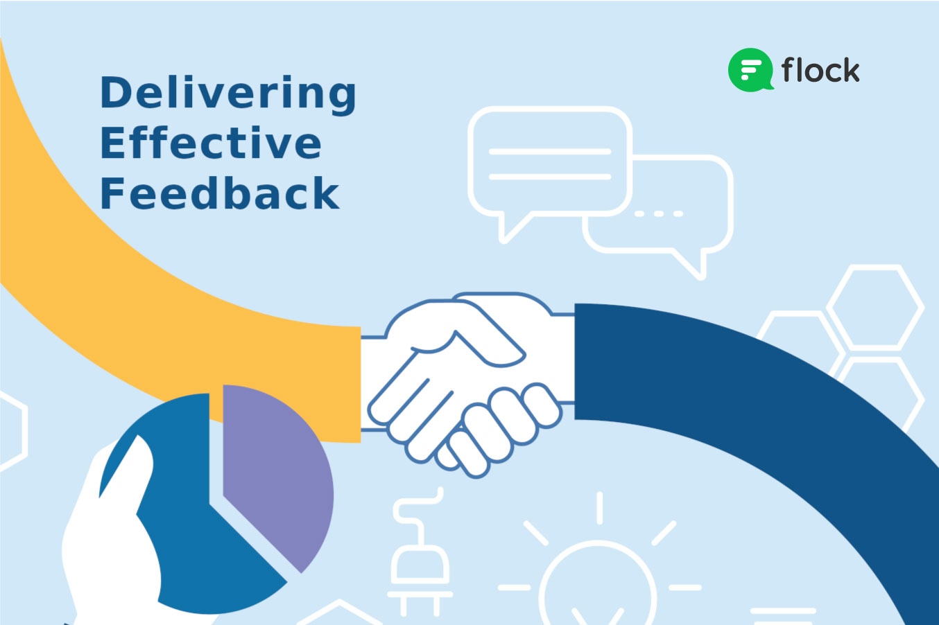 delivering effective feedback two hands shaking