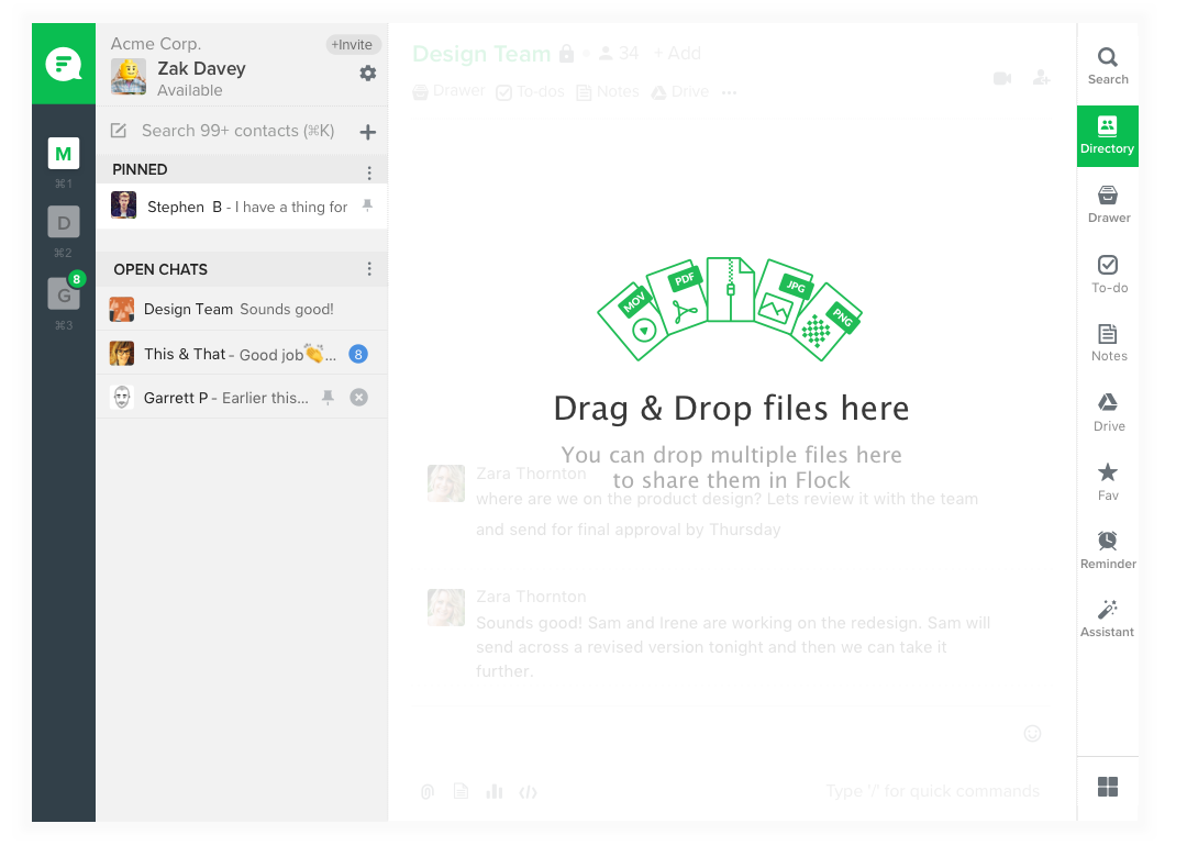 Sharing Files in Flock
