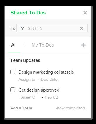 Screenshot: Flock's shared to-dos app