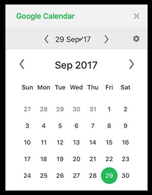 Screenshot: Google Calendar for Flock