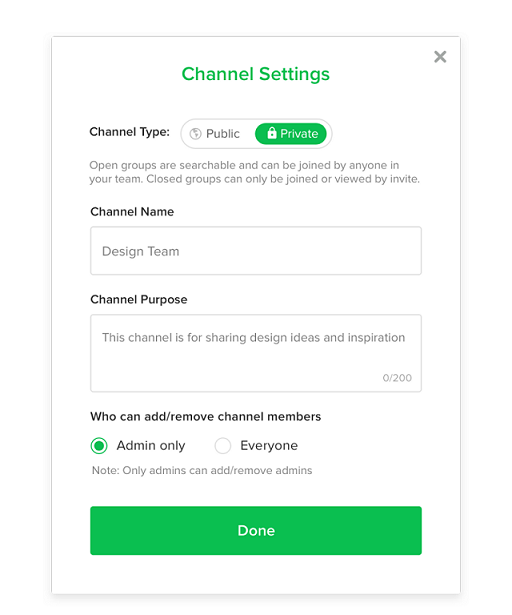 Flock channel settings