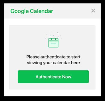 Screenshot: Authenticate Google Calendar for Flock