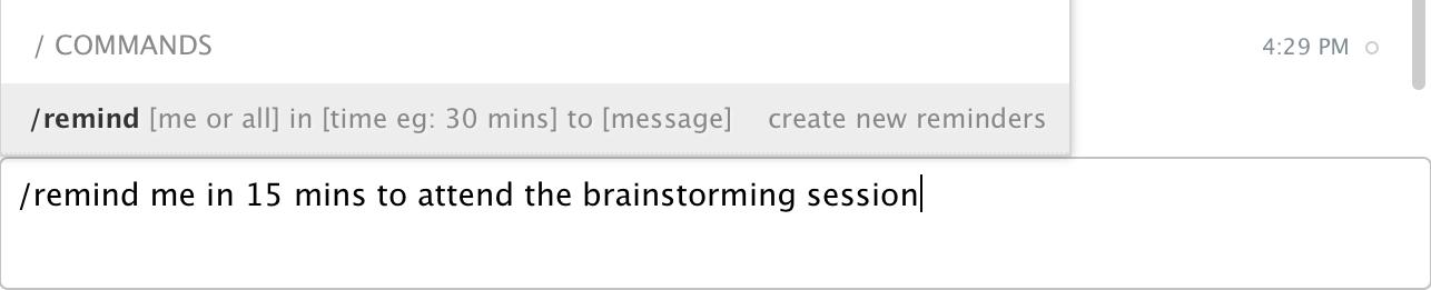 Screenshot: Reminders in Flock